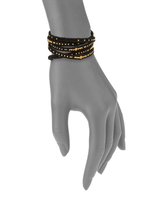 Chan Luu | Black Beaded Leather Multi-row Wrap Bracelet | Lyst