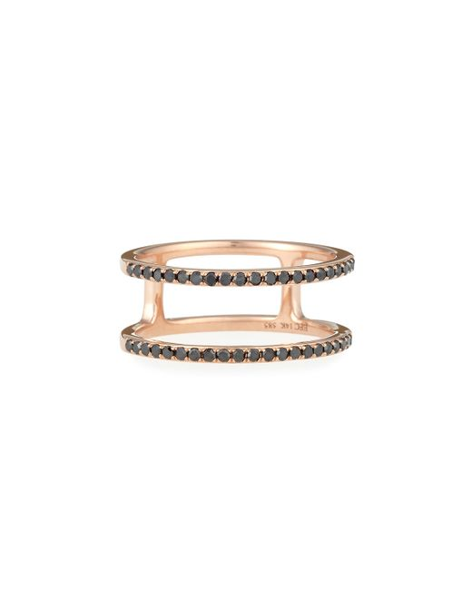 EF Collection | Pink Black Diamond Double Spiral Ring | Lyst