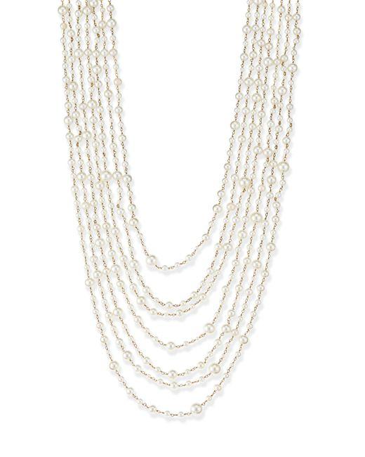 Rosantica   White Pegaso River Pearl 7-strand Necklace   Lyst