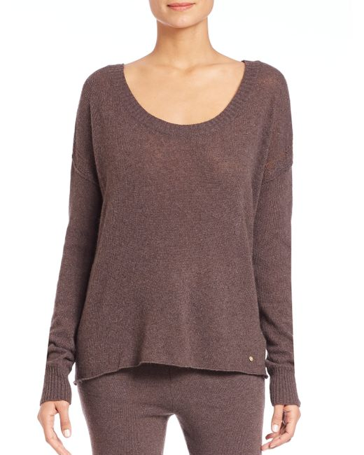 Hanro | Brown Lilou Drop-shoulder Sweater | Lyst