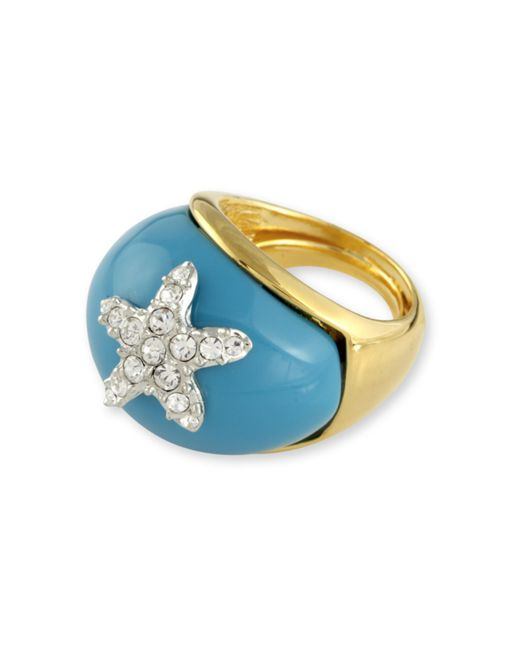 Kenneth Jay Lane | Blue Turquoise Starfish Ring | Lyst