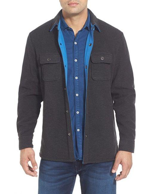 Tommy Bahama | Gray 'twill Murray' Island Modern Fit Shirt Jacket for Men | Lyst
