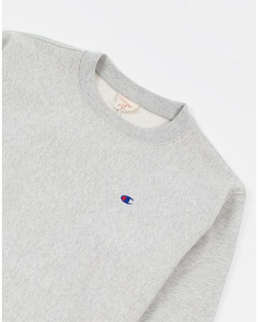 Champion | Gray Reverse Weave Crew Neck Sweatshirt Grey for Men | Lyst