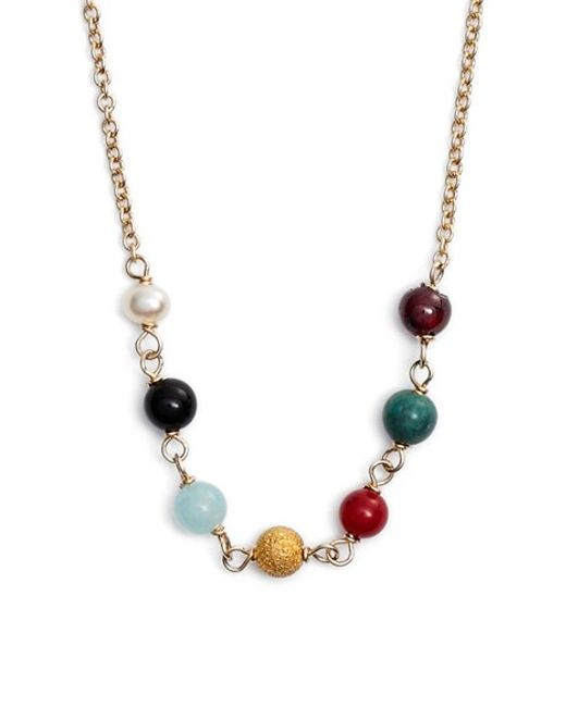 Dogeared | Metallic 'healing' Beaded Necklace | Lyst