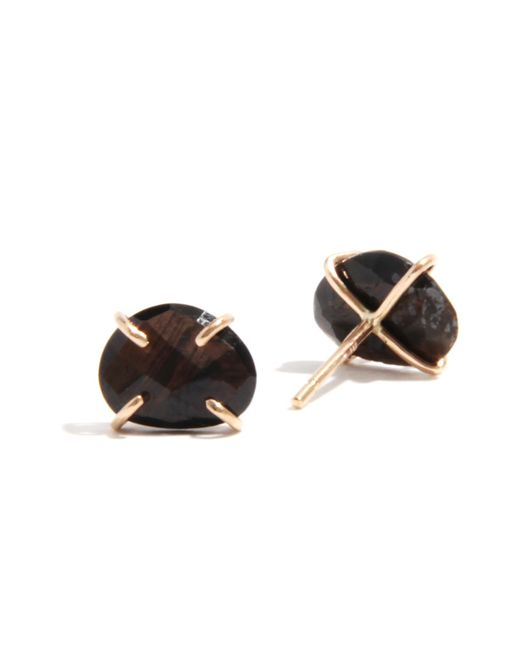 Melissa Joy Manning | Black Brown Sapphire Stud Earrings | Lyst