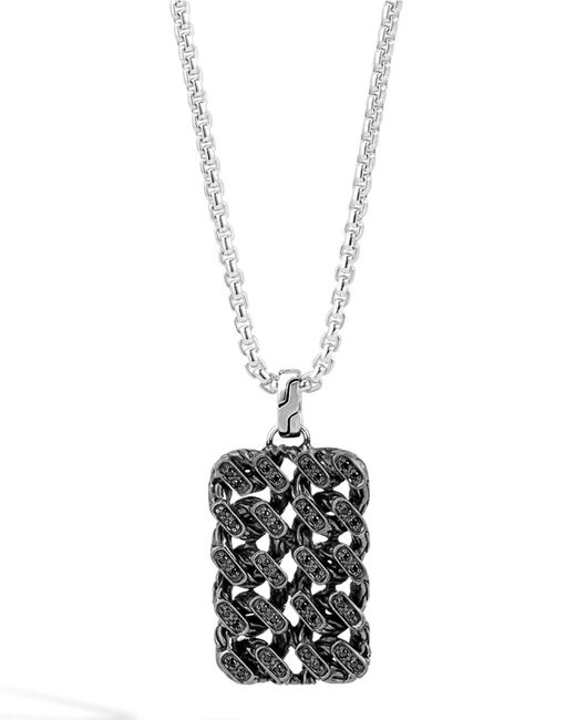 John Hardy | Metallic Classic Chain Gourmette Lava Dog Tag Necklace for Men | Lyst