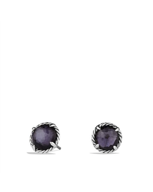 David Yurman | Châtelaine Earrings With Black Orchid | Lyst