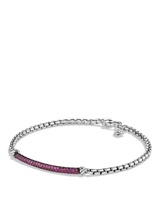 David Yurman | Metallic Petite Pavé Bar Metro Bracelet With Pink Sapphires | Lyst