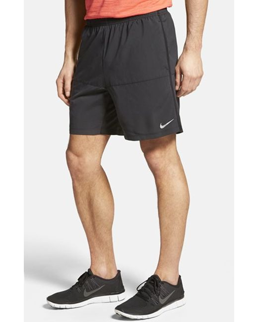 Nike | Black Dri-fit Woven Running Shorts for Men | Lyst