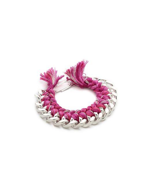 Aurelie Bidermann   Pink Maya Bead-embellished Bracelet   Lyst