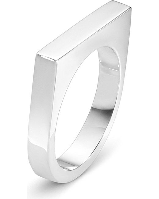 Georg Jensen | Metallic Aria Sterling Silver Slim Ring | Lyst