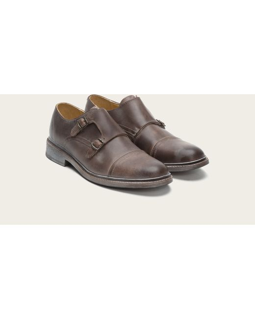 Frye | Brown James Double Monk for Men | Lyst