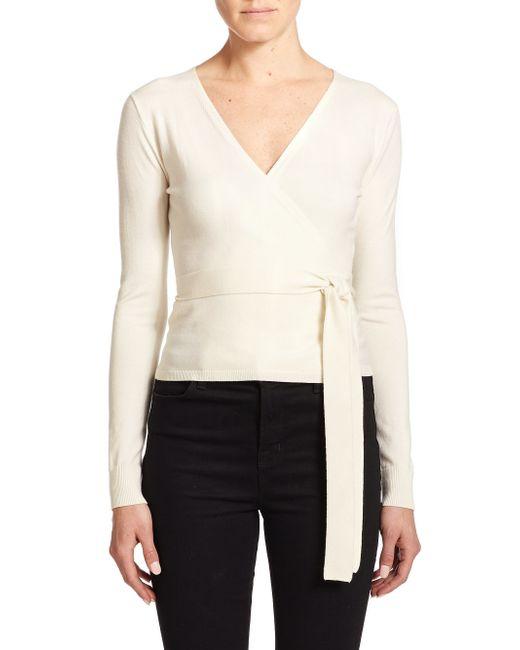 Diane von Furstenberg   Natural Ballerina Wrap Sweater   Lyst
