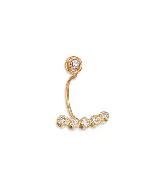 Zoe Chicco   Metallic Diamond & 14k Yellow Gold Five-bezel Single Earring Charm   Lyst