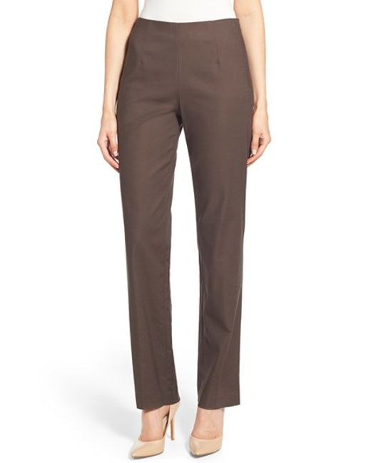 NIC+ZOE | Brown 'perfect' Pants | Lyst