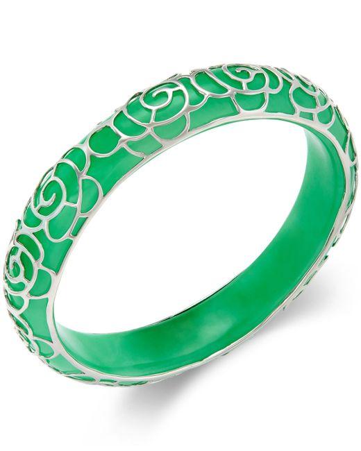 Macy S Jade Flower Overlay Bangle Bracelet 210 Ct T W