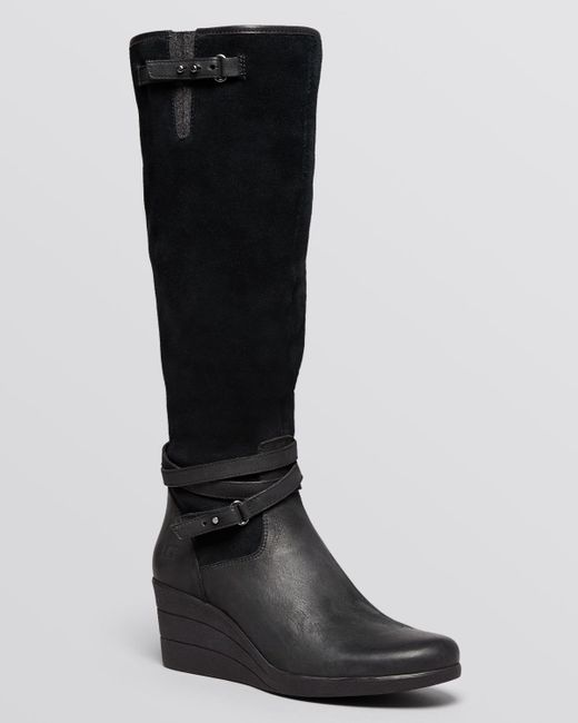 ugg174 tall wedge boots lesley in black lyst