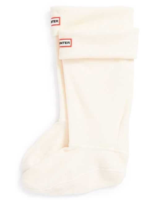 Hunter | Natural Original Tall Fleece Welly Boot Socks | Lyst
