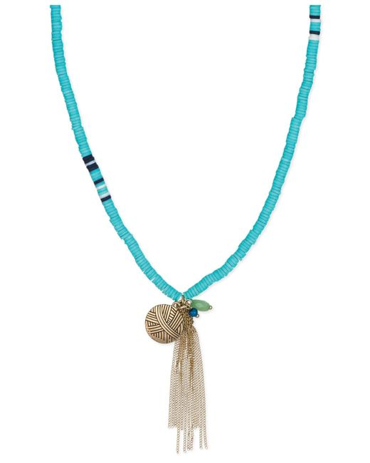 The Sak | Metallic Gold-tone Mint Bead Tassel Necklace | Lyst