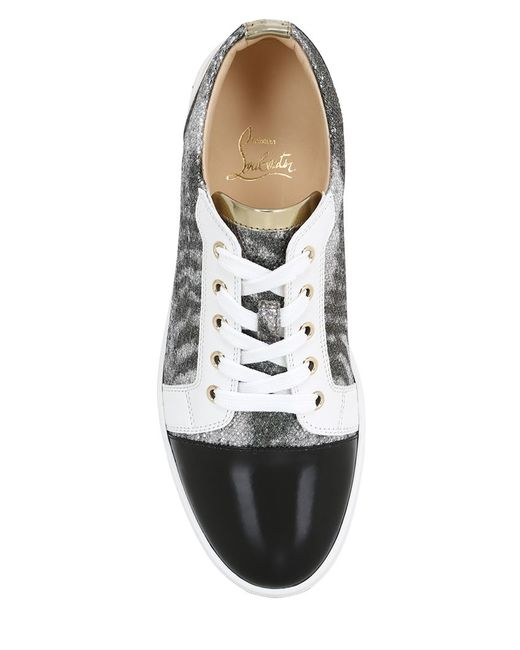 replica christian laboutin - christian louboutin gondoliere leopard-print calf hair sneakers ...