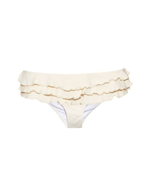 OndadeMar | Natural Ruffled Bikini Briefs | Lyst