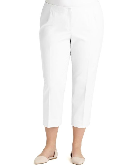 Lafayette 148 New York | White Bleecker Cropped Pants | Lyst