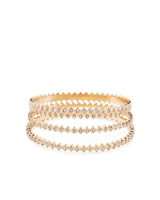 Forever 21 | Metallic Rhinestone-encrusted Bangle Set | Lyst