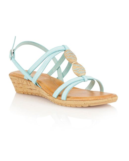 Lotus | Blue Leona Open Toe Sandals | Lyst