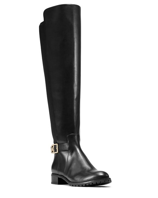 MICHAEL Michael Kors | Black Bryce Mid-calf Leather Riding Boots | Lyst