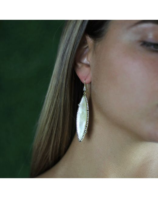 Sylva & Cie | Metallic Mother-of-pearl Earrings | Lyst