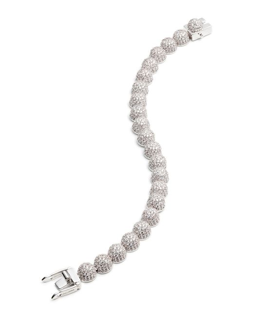 Eddie Borgo | Metallic Medium Pave Crystal Dome Link Bracelet | Lyst