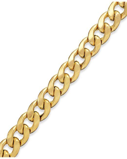Macy's | Metallic Cuban Chain Bracelet In 14k Gold | Lyst