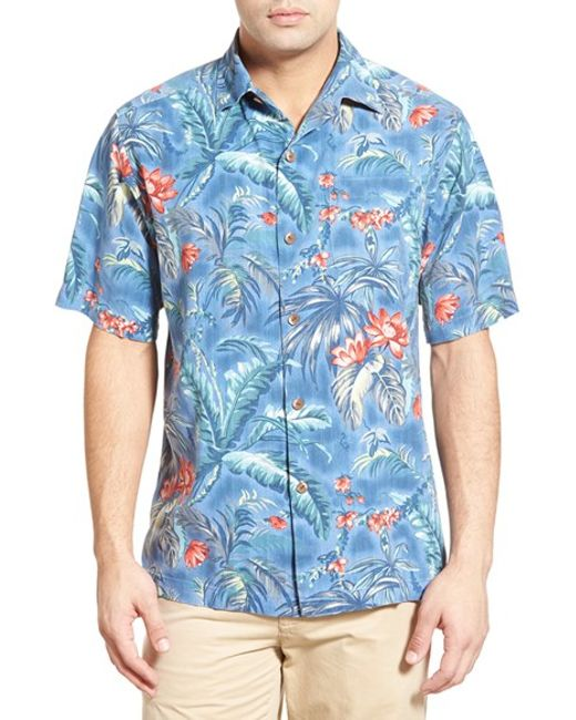 Tommy bahama 39 outback oasis 39 original fit silk camp shirt for Tommy bahama florida shirt