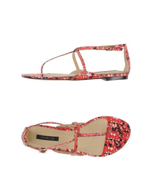 Rachel Zoe | Red Thong Sandal | Lyst