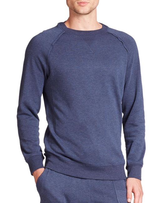 2xist | Blue Terry Pullover Sweatshirt for Men | Lyst