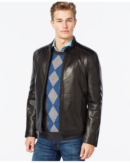 Marc New York | Brown Moto-style Faux-leather Jacket for Men | Lyst