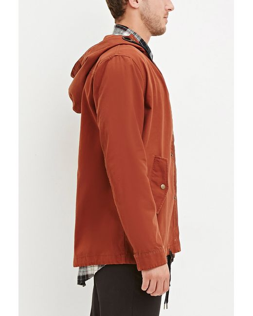 Forever 21 | Brown Hooded Utility Jacket for Men | Lyst