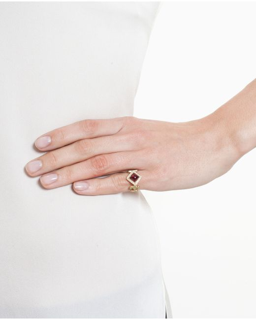 Sabine G | Red 18k Yellow Gold Domi Rosa Ring | Lyst