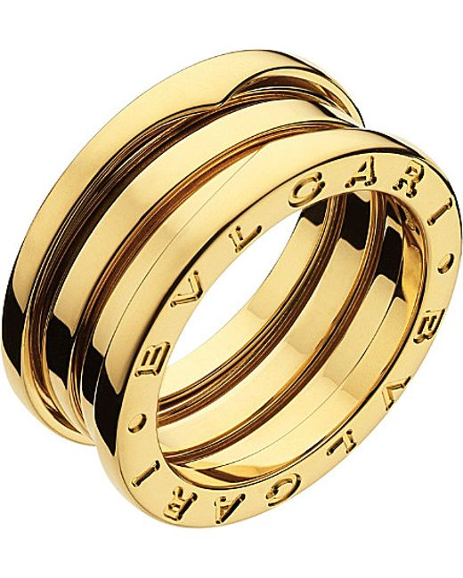 BVLGARI | Metallic B.zero1 Three-band 18ct Yellow-gold Ring - For Women | Lyst