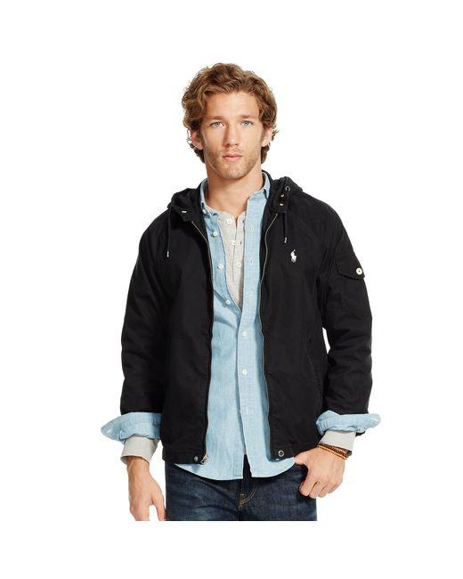 Polo Ralph Lauren | Black Cotton-blend Windbreaker for Men | Lyst