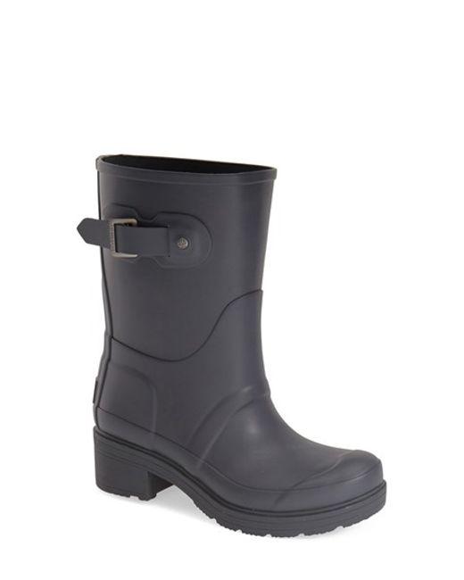 Hunter | Gray 'original' Waterproof Ankle Rain Boot | Lyst
