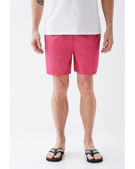 Forever 21 | Pink Rope-drawstring Swim Trunks for Men | Lyst