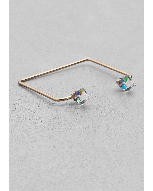 & Other Stories | Blue Square Diamond Cuff | Lyst