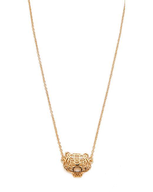 KENZO | Metallic Mini Tiger Necklace | Lyst