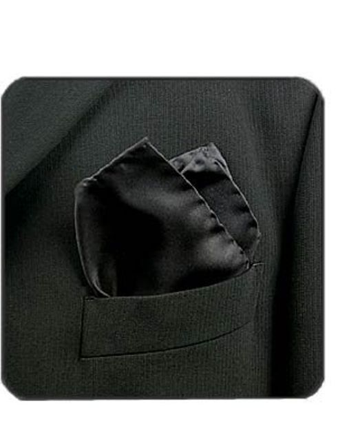 FORZIERI | Black Silk Pocket Square | Lyst