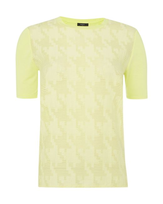 Paul Smith Black Label | Yellow Short Sleeve Tee With Jacquard Pattern | Lyst