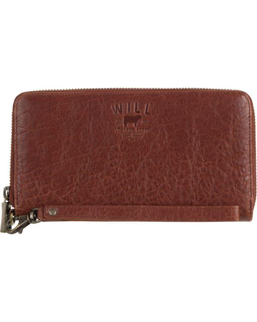 Will Leather Goods - Brown Alix Zip Around Clutch - Lyst