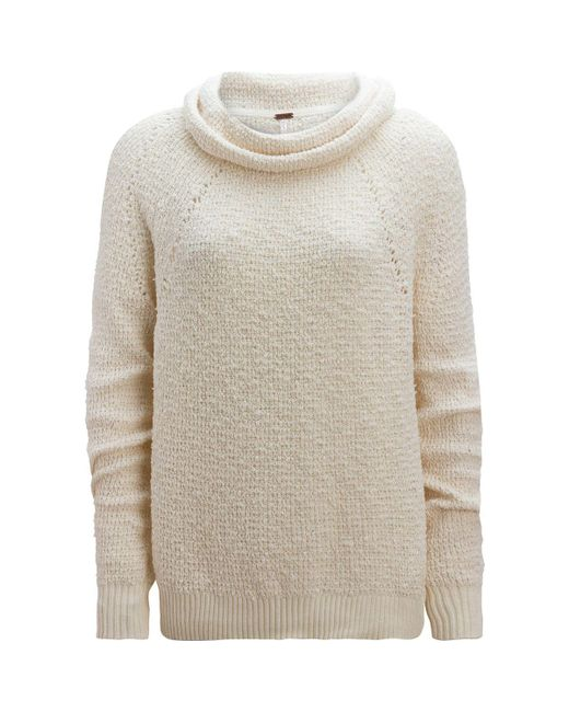 Free People - White By Your Side Sweater - Lyst
