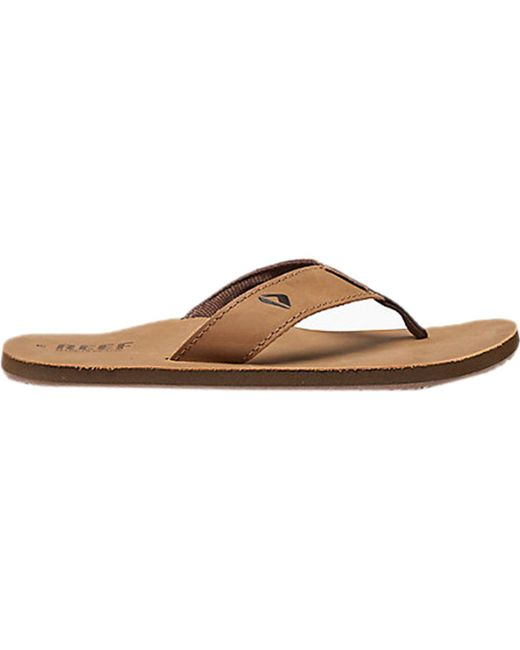 f4b263ff99ec Lyst - Reef Leather Smoothy Flip Flop in Brown for Men