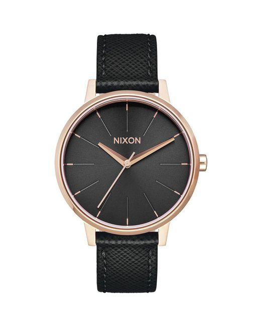Nixon - Black Kensington Leather Watch - Lyst